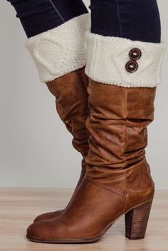 Ivory Button Boot Cuffs ♥