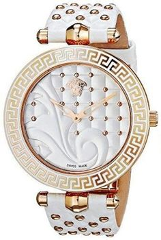 Versace Womens Vanitas Rose Gold Ion Plated Coated Stainless Steel  Interchangeable Straps Watch Set VK7010013 cdb6b91cf52d0