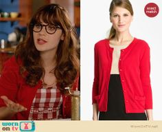 Jess's red gingham check dress with bows on New Girl.  Outfit Details: http://wornontv.net/31613/ #NewGirl