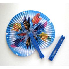 Colorful Fish Party Fan Favors 4 Beach Party Favors Summer Party Paper Fans Luau Party Hand Fan Decor Tropical Party Folding Fan Decorations ($7.21) found on Polyvore featuring home, home decor and afloralaffair