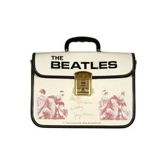 Remember these? Vintage Beatles collectibles highlight upcoming... ❤ liked on Polyvore featuring bags, bags and backpacks, white backpack, american backpack, knapsack bag, vintage bags and rucksack bags