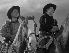 """Wagon Master""  Sandy (Harry Carey Jr.), and his partner Travis (Ben Johnson)."