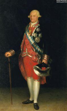Francisco Goya Carlos IV, rey de España, en traje de coronel de los Guardias de Corps, 1799-1800