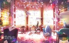 Kyoto Animation announces new anime Violet Evergarden - definitely looking forward to this anime this season. Visually it is stunning. Violet Evergarden Wallpaper, Mobile Wallpaper, Wallpaper Backgrounds, Violet Evergreen, Violet Evergarden Anime, Full Hd Pictures, Kyoto Animation, Image Manga, Dibujos Cute
