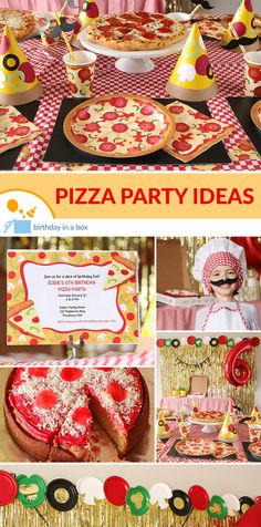 Pizza Party Ideas The results of our non scientific survey on favorites foods came up with a clear winner- PIZZA! So make it the focus of your next Party. Check out jour ideas on how to make pizza the star of your next party! Pizza Party Themes, Kids Pizza Party, Kids Cooking Party, Kids Party Themes, Party Ideas, Pizza Party Birthday, Birthday Box, 6th Birthday Parties, Birthday Ideas