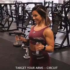Hanna, Gymshark Athlete, (Hanna Öberg) is here and ready to give you some serious workout inspiration! Arms, arms, arms 💪 Try these Rotation Bicep Curls into Single Arm Overhead Triceps Extensions at your next workout! Body Fitness, Fitness Goals, Fitness Motivation, Health Fitness, Woman Fitness, Female Fitness, Gym Fitness, Physical Fitness, Fitness Workouts