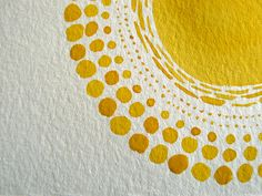 Yellow Watercolour ~ i love water colours on water colour paper!