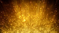 loopable motion background rising gold particles - HD stock video clip