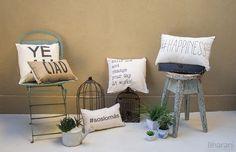 BHARANI DECO Almohadones y objetos deco estampados para llenar tus ambientes de felicidad. http://charliechoices.com/bharanideco/