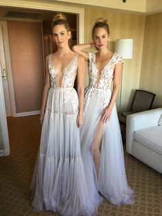 """Annabel"" & ""Antonia"" from the new MUSE bridal line. By BERTA. From the #NYBFW showroom. Coming soon."
