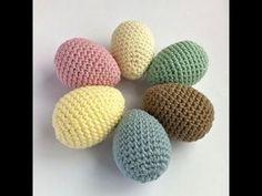 Háčkované velikonoční vejce