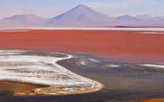 From vividly coloured waters to dramatic rock formations, here are some of the   world's most unusual landscapes