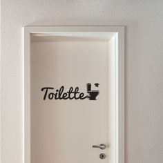 Sticker Toilette | Fanastick  http://www.fanastick.com/stickers/stickers-porte/677-toilette.html