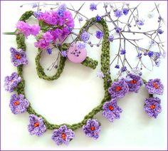 crochet necklace...by Lidia Luz