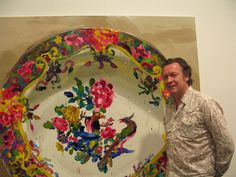Jan De Vliegher - would love this huge plate painting
