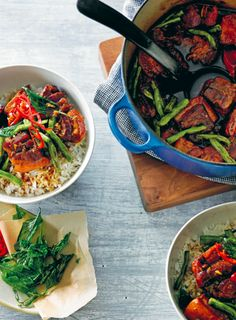 Olivia Andrews' latest book offers a series of warming recipes which can be made in a slow cooker or on the stovetop. This caramel pork belly requires a little forward planning but is simple to prepare.