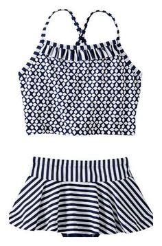 Swede tankini for girls at Hanna Andersson. Really like the mix/match patterns