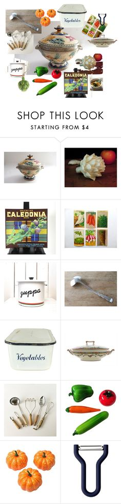 """""""Vegetable Soup for Supper!"""" by vintagefrenchlinens on Polyvore featuring interior, interiors, interior design, home, home decor, interior decorating, Murano, Normann Copenhagen, HomArt and kitchen"""
