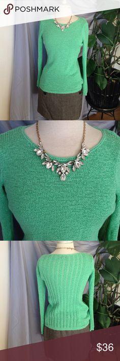 Beautiful Green Knit Rachael Zoe Sweater Rachael Zoe, green knit sweater, size small. Material: 73% cotton, 27% polyester. Machine wash cold. Pre-loved, beautiful condition. Rachel Zoe Sweaters