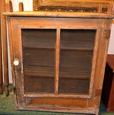 Great looking Grain Painted Hanging Meat/Pie Safe-Primitive cupboard,cabinet