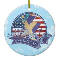 Proud #Scottish American Christmas Ornament. For more holiday ornaments, please check out my store: www.zazzle.com/celticana*/ #ChristmasOrnaments #ChristmasDecorations #Zazzle