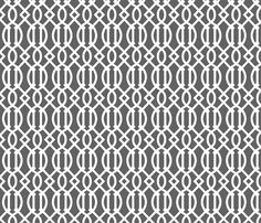 Charcoal Gray Trellis fabric by sweetzoeshop on Spoonflower - custom fabric