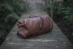 Leather Duffle Bag  The Gunnar Duffle  Military от Goforthgoods
