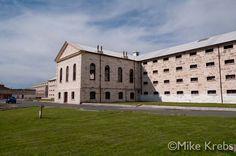 prison outside - Google Search Abandoned Prisons, Iconic Australia, Interesting Buildings, Building Design, Western Australia, Silhouettes, Skyscraper, Crime, Beautiful Places