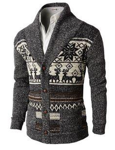 Nordic Cotton Cardigan in Black