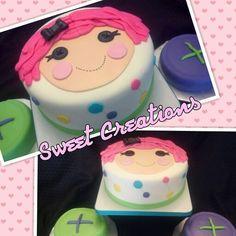 Lalaloopsy girls birthday cake fondant sweet creations by marley