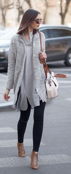 Black And Grey Outfit Idea