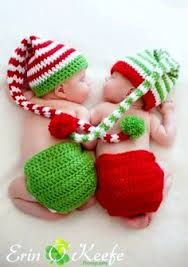 Oh the cuteness of it all! Don't you just adore these crocheted Christmas hats?…