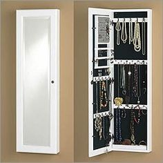 Charming This Is Cool   A Jewelry Organizer And Mirror In One, That Hangs Over A  Door Or On A Wall. Genius Space Saver! | For The Home | Pinterest | Space  Saver