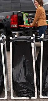 """Lowes PVC Pipe Garbage Bag Holder -- great for tailgating and for camping.  def making this"""" data-componentType=""""MODAL_PIN"""