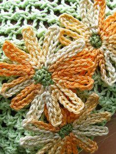 Unknown Freeform Crochet, Crochet Motif, Crochet Flowers, Free Crochet, Knit Crochet, Crochet Edgings, Chrochet, Crochet Ideas, Crochet Applique Patterns Free