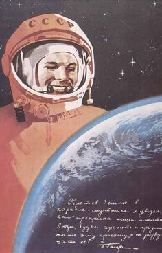 The first man flew into space - Yuri Gagarin