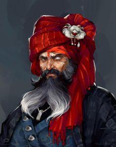 And another one pirate by Ola Karambola Starodubtseva on ArtStation.
