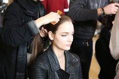 Mixing It Up: Backstage at the Paris Runways (Stella McCartney  Makeup artist: Pat McGrath  Hairstylist: Eugene Souleiman)