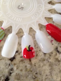 How to Paint Apples on Your Nails