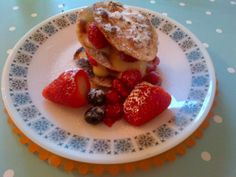 Made this on Saturday. Lemon curd with filo pastry and summer fruit.