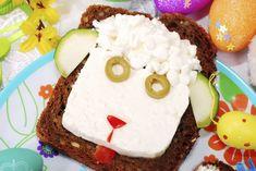 Kolorowe kanapki dla dzieci: owca