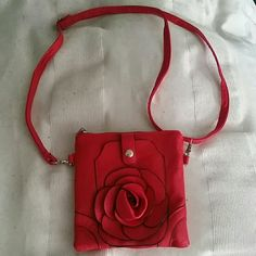 Red Rose Purse Lovely red color and unique rose motif make this purse stand out! Bags Shoulder Bags