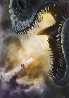 battle against the giant dragon