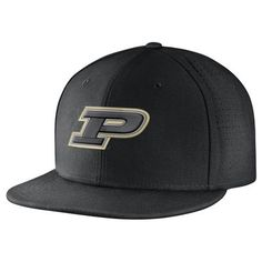 3181d0550a7 Men s Nike Black Purdue Boilermakers True Vapor Performance Fitted Hat