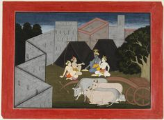 Philadelphia Museum of Art - Collections Object : Krishna and Balarama Take a Meal of Rice Boiled in Milk