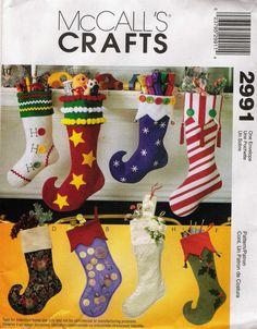 McCall's 2991 Christmas Stockings