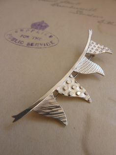 Silver Bunting Brooch