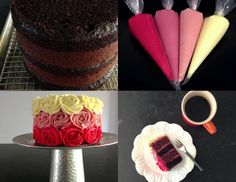 Ombre Rose Cake Photo Inspiration