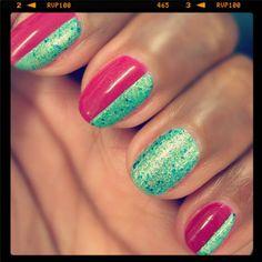 Living for Deborah Lippmann Mermaid's Dream (the green). #Sephora #Nailspotting