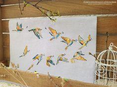 Остров рукодельного удовольствия.: ,,Перелётные птицы,, Le guèpier d'Europe.Helene Le...